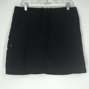 Patagonia 10 Skirt Skort Shorts Black Drawstring